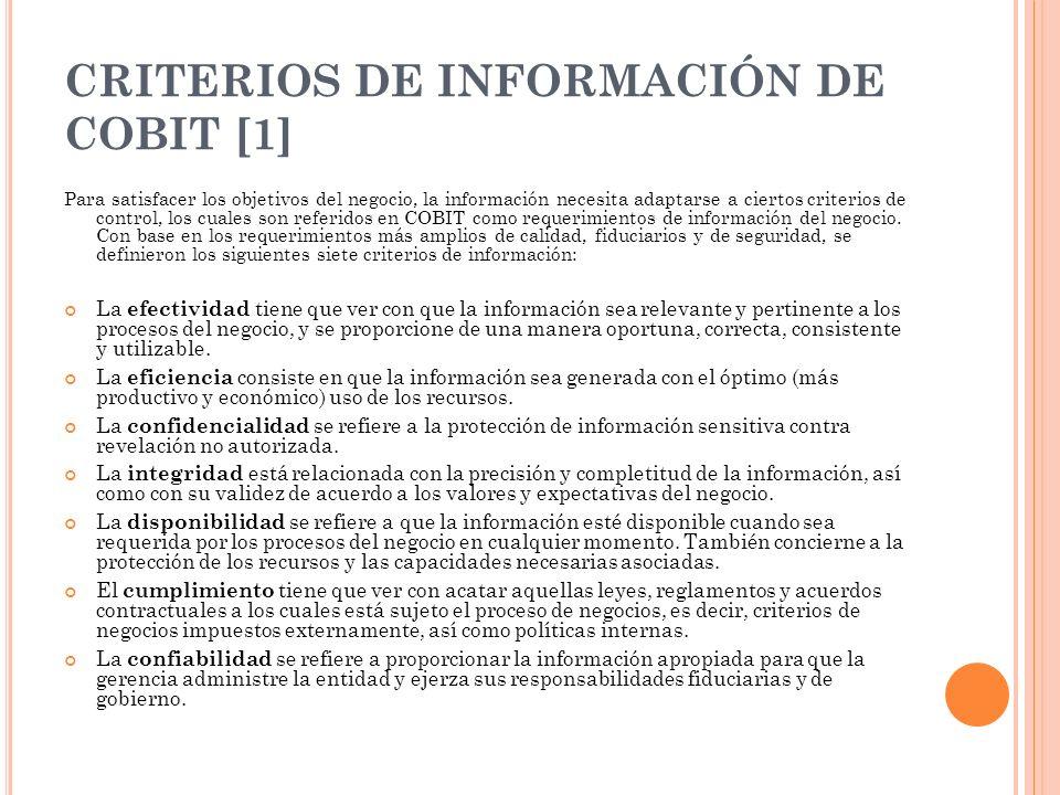 CRITERIOS DE INFORMACIÓN DE COBIT [1]